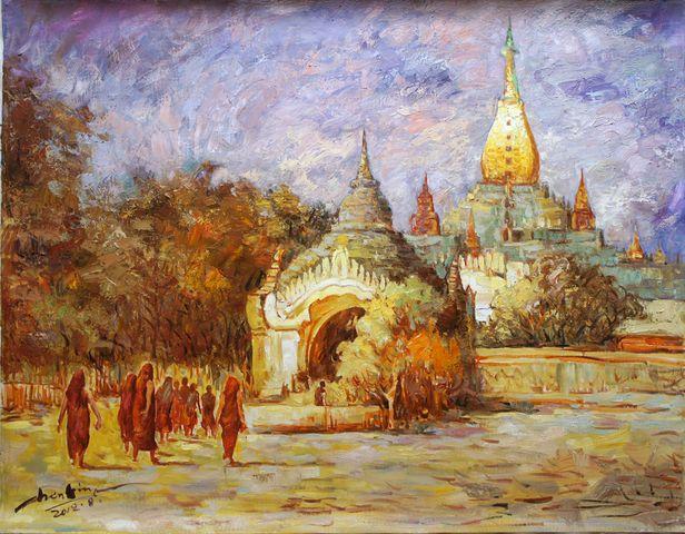 油画——缅甸(陈琳 老挝)