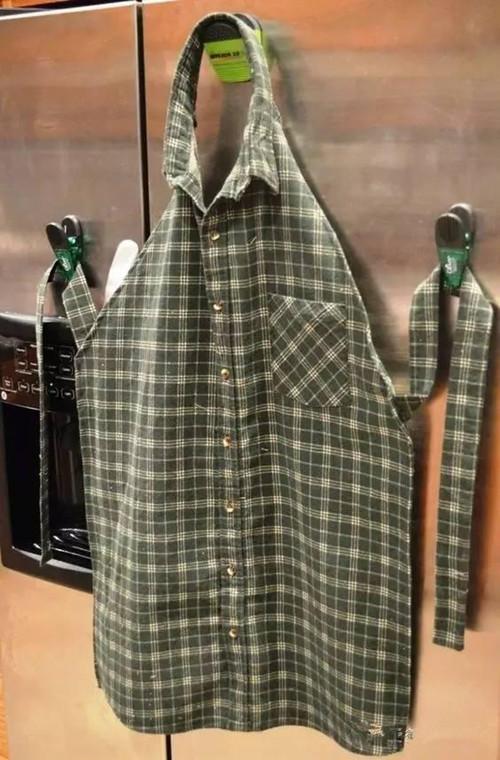 围裙不用买 ,用旧衣服就可以做,比买的美十倍!