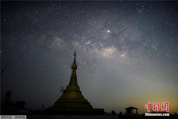缅甸璀璨星空 繁星点点唯美如画