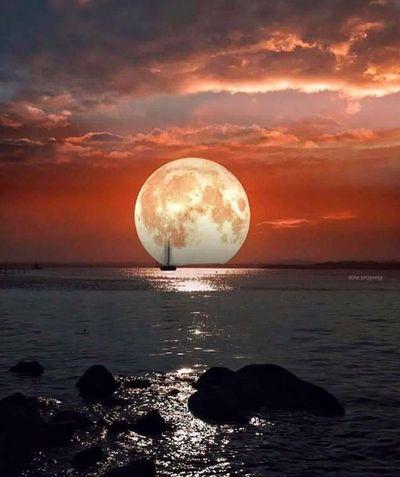 血月 ——喜看UNi学长分享《月色》照片(舒云)