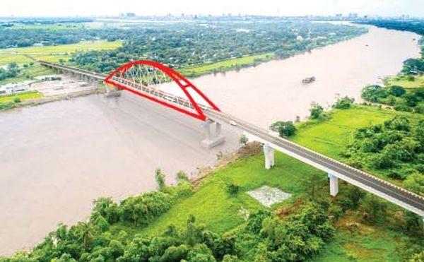 仰光省色枝-克瑙托大桥正在加紧建设之中