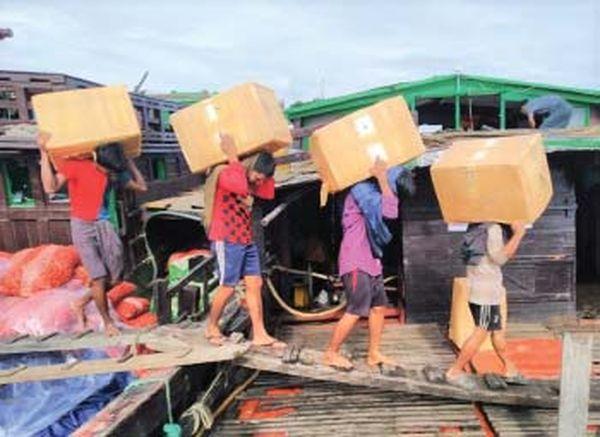 若开邦实兑口岸已向孟加拉国恢复出口水产品了