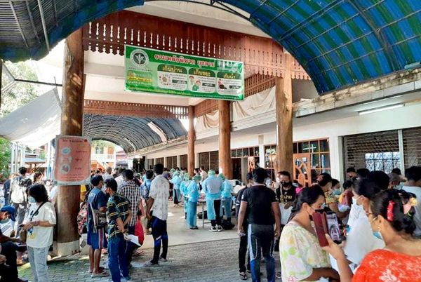 泰国湄索市分三个疫苗接种点为缅甸移民劳工接种新冠疫苗
